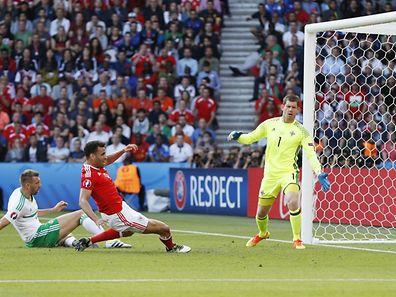 Gareth McAuley inscrit le seul but de la rencontre. Contre son camp...