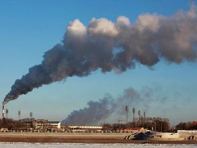 "(FILES) This file photo taken on November 22, 2015 shows smoke billowing from a heating factory in Heihe, in northeastern China's Heilongjiang province.  Carbon emissions from burning fossil fuels have been nearly flat for three years in a row -- a ""great help"" but not enough to stave off dangerous global warming, a report said on November 14, 2016.  / AFP PHOTO / STRINGER / TO GO WITH AFP STORY BY MARIETTE LE ROUX"