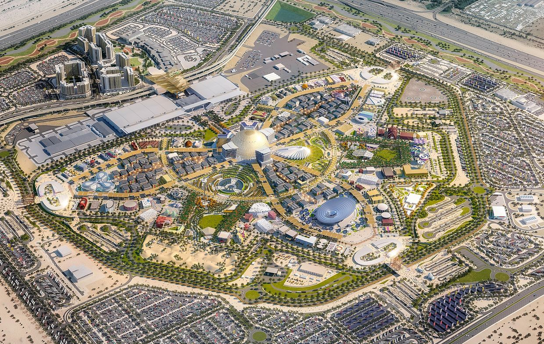 L'ensemble du site de l'Exposition universelle de Dubaï.