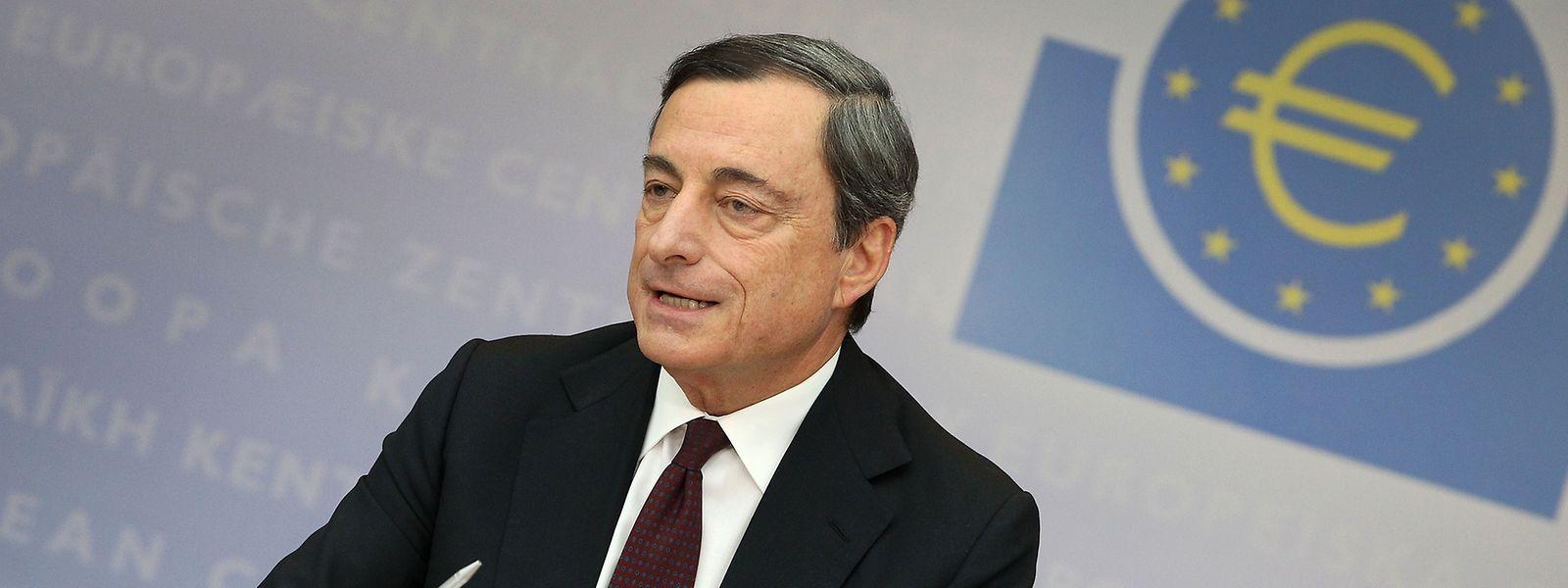 Mario Draghi, presidente do Banco Central Europeu