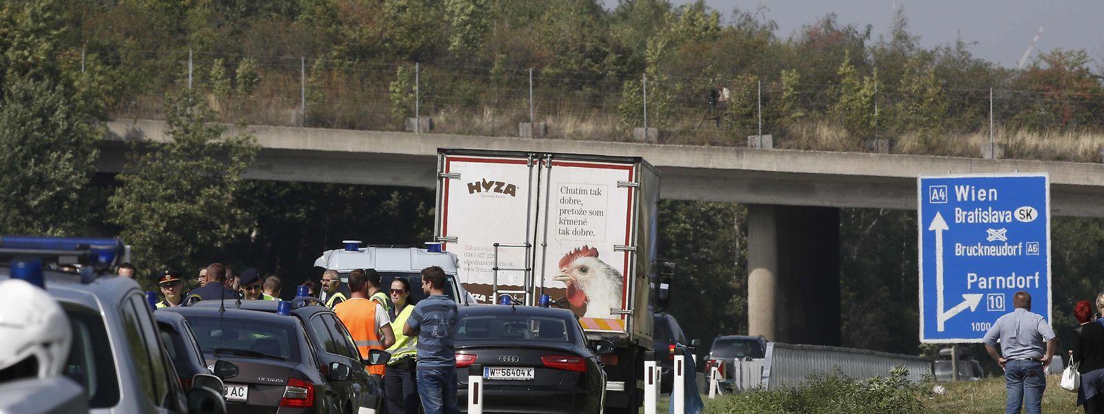 In diesem Lastwagen starben 71 Menschen.