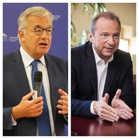 Der CSV-Abgeordnete Gilles Roth (rechts) wollte zusammen mit seinem Parteikollegen Laurent Mosar (links) wissen, für welche Berichte die Polizei-Datenbank genutzt wird und welcher legalen Basis sie unterliegen.