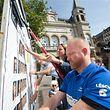 10.09.2018 Luxembourg, DP siège, DP Plakate kleben, Wahlen, élections photo Anouk Antony