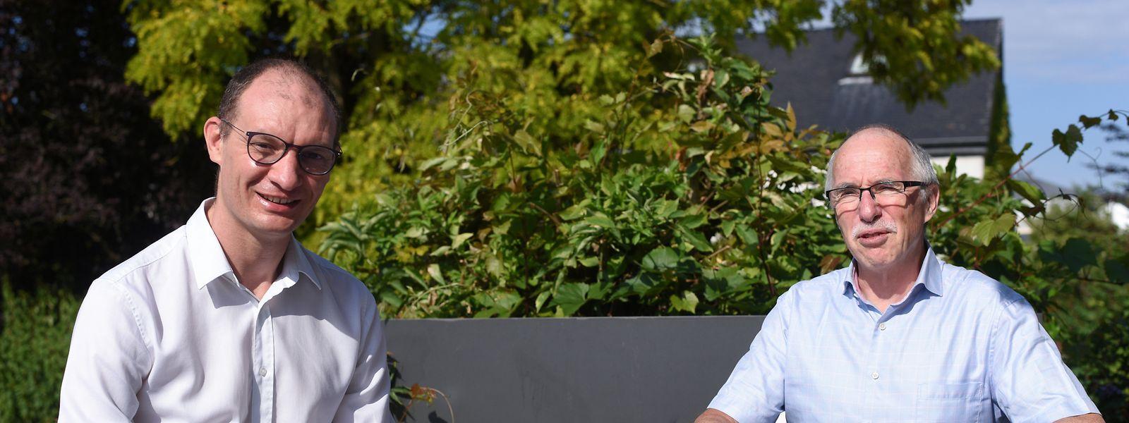Alexis Lion und Charles Delagardelle (r.) weisen auf die aktuellen Probleme des Gesundheitssports hin.