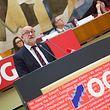 André Roeltgen hielt  beim OGBL-Kongress am Samstagmorgen seine  erste Grundsatzrede als neuer Gewerkschaftspräsident.