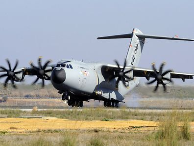 The Airbus A400M jointly commissioned by Luxembourg, Germany, Belgium, France, Britain, Spain and Turkey.