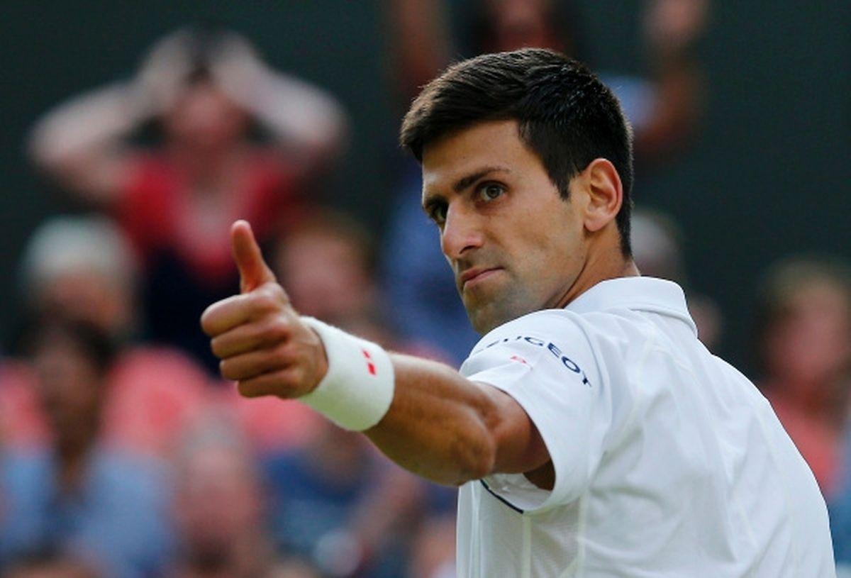 Le pouce levé du n°1 mondial, Novak Djokovic