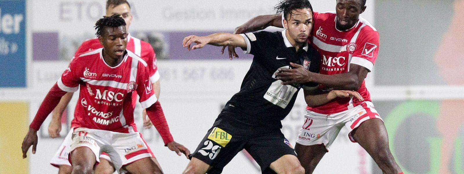 Après un début de match difficile, les Differdangeois ont égalisé grâce à Antonio Luisi.