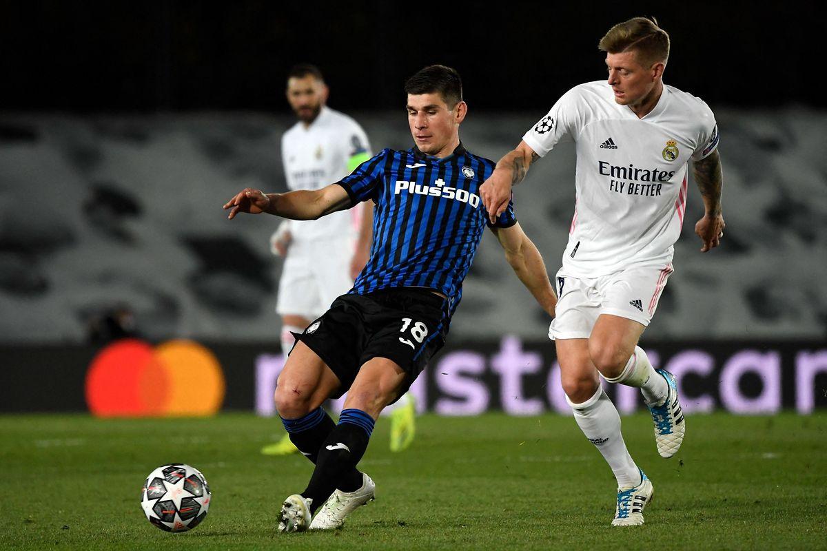 Malgré une défense agressive pendant le premier quart d'heure, Atalanta n'a pas fait le poids face au Real