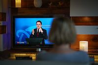 Lokales,Livestream Briefing Premier Xavier Bettel zur Corona Krise. Foto: Gerry Huberty/Luxemburger Wort