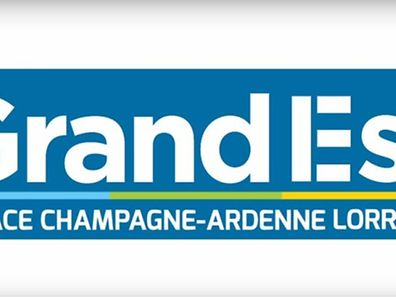 "The ""Grand Est"" logo for new merged region just over Luxembourg border"