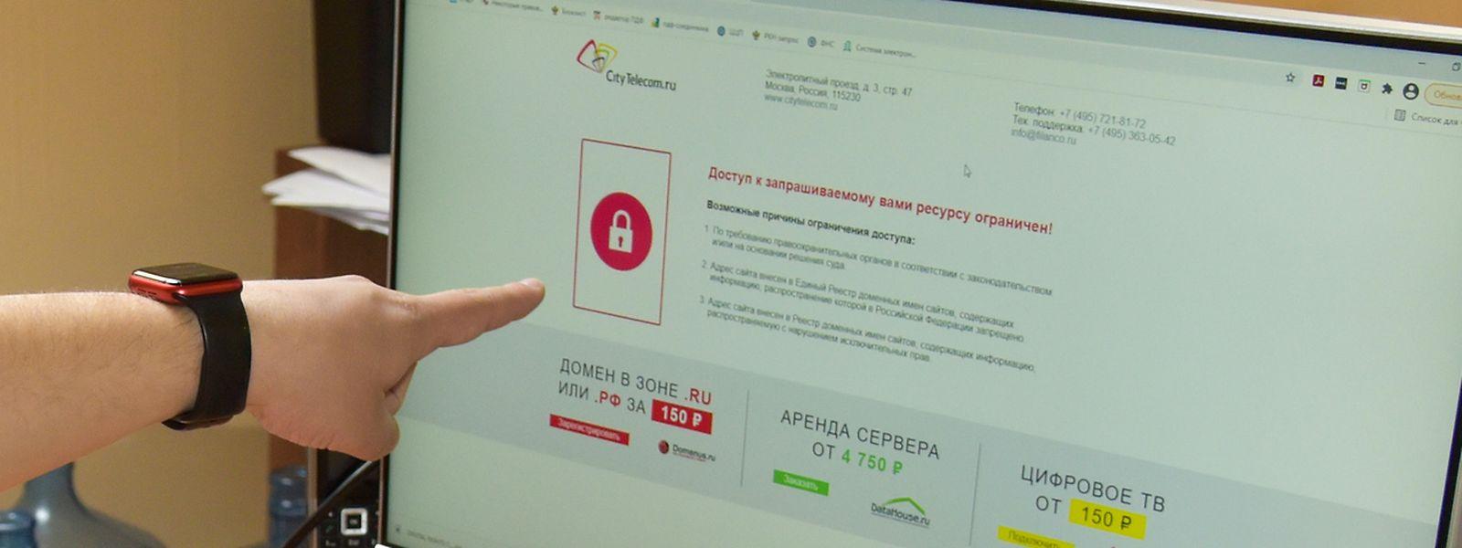 Die russischen Behörden haben vor den Parlamentswahlen zahlreiche Internetseiten der Opposition gesperrt.