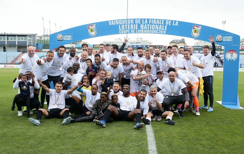 Les Dudelangeois ont réalisé le septième doublé coupe-championnat de leur histoire.