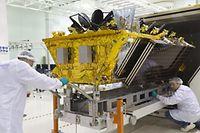 Un des quatre derniers O3B de Thales lancés en mars. Quatre autres suivront l'an prochain. Et une nouvelle génération construite par Boeing en 2021
