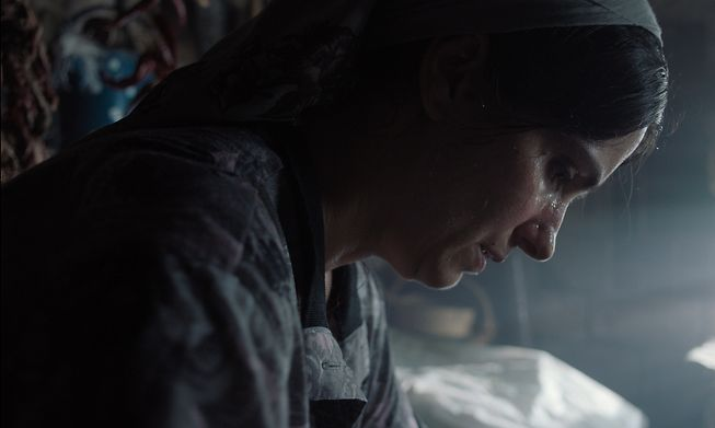 Fahrije, the main character in the film, Hive
