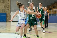 Nadine Bourg (5 Walferdange)Magaly Meynadier ( basketball - 3 Grengewald)Total League Dames - Walferdange - Grengewald - 17/04/2021 - Hall sportif Walferdangefoto : Vincent Lescaut