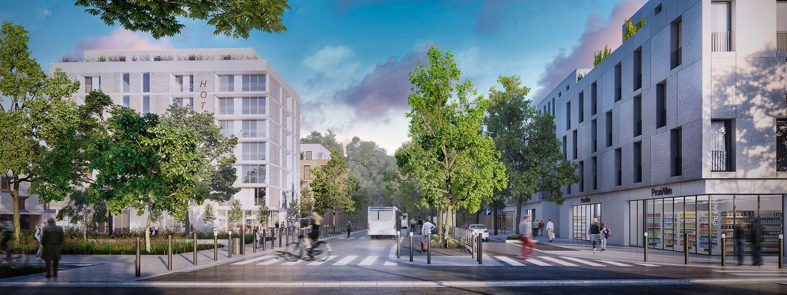 """Le """"Hub mobilité"""" offrant des liaisons entre Micheville, Belval et Luxembourg sera l'un des premiers sites à sortir de terre."""