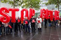 CETA ruft weiterhin Kritiker auf den Plan – wie hier bei einer Demonstration 2016 in Luxemburg.
