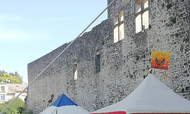 Following renovations to the castle, the annual Medieval Festival is taking place in the grounds of Koerich castle again