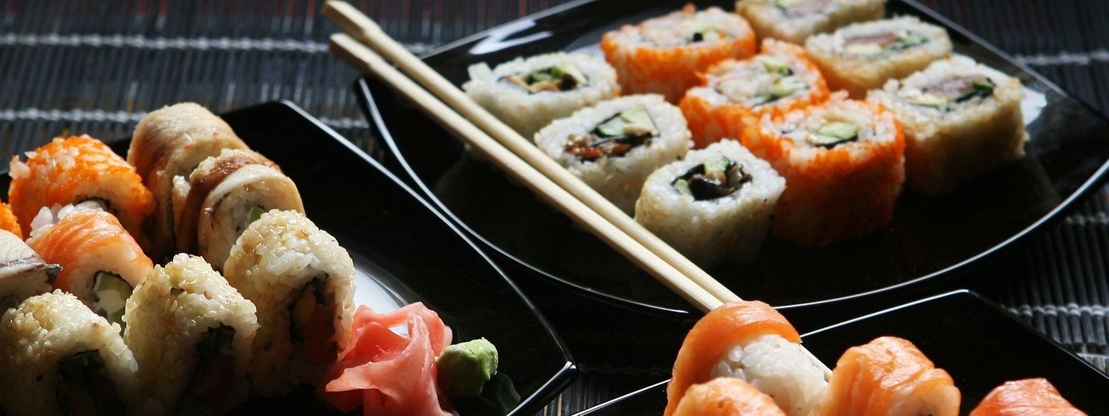 Sushi ist in der Mittagspause besonders beliebt.