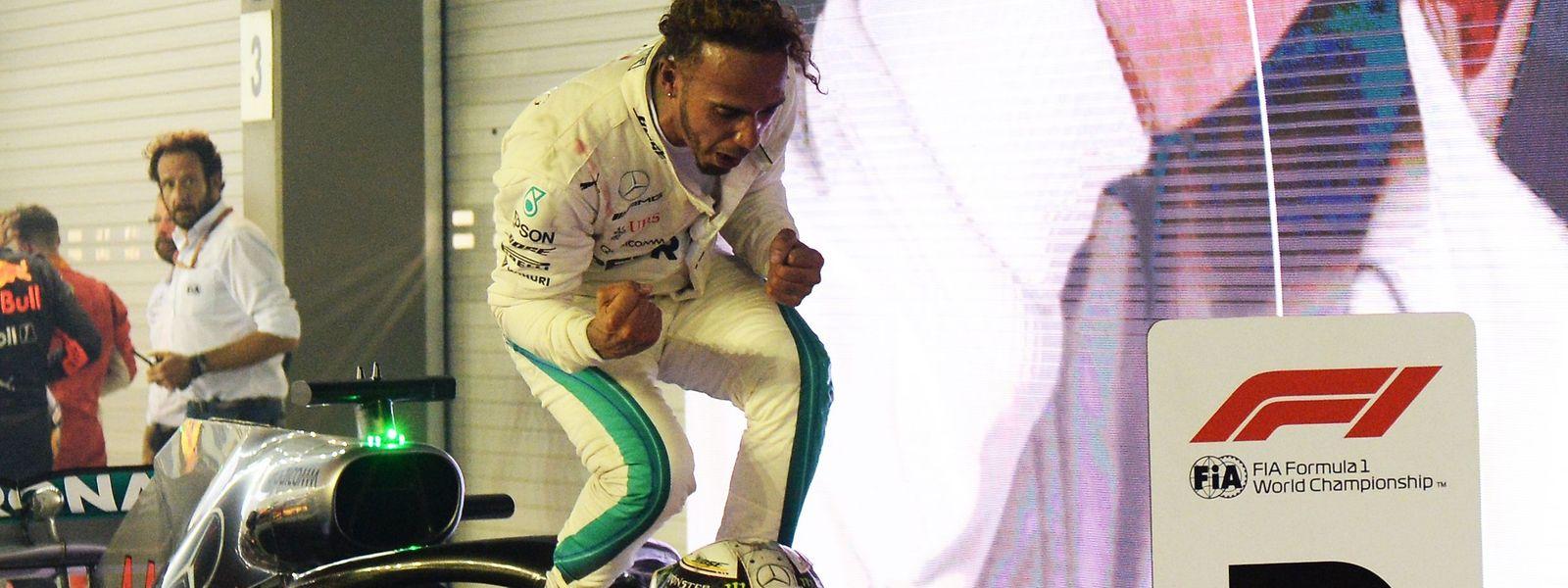 Lewis Hamilton genoss seinen Sieg.