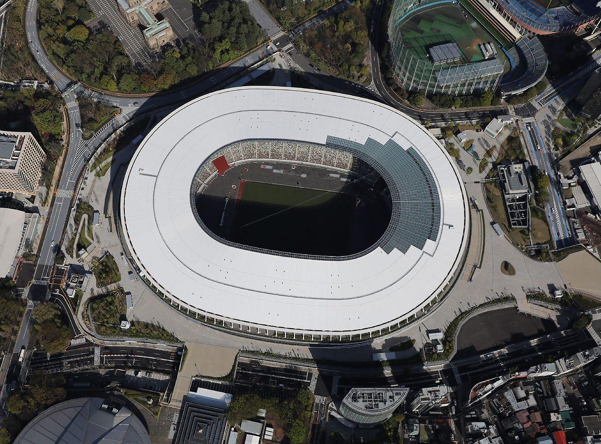 Le futur stade olympique doit accueillir la cérémonie d'ouverture dans un an.