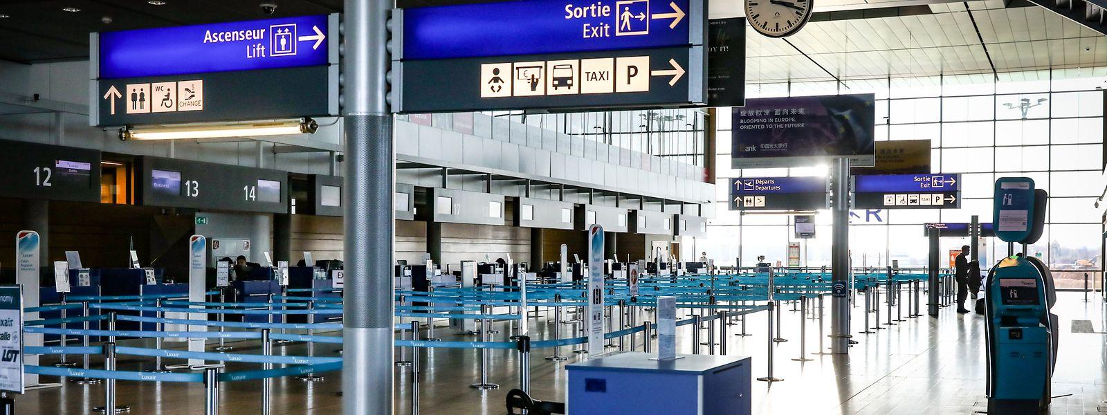 Nichts los: Alle Aktivitäten sind am Flughafen Findel eingestellt.