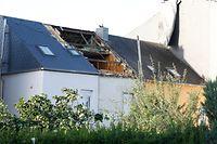 Der Tornado richtete insbesondere in Petingen und Niederkerschen enormen Schaden an.