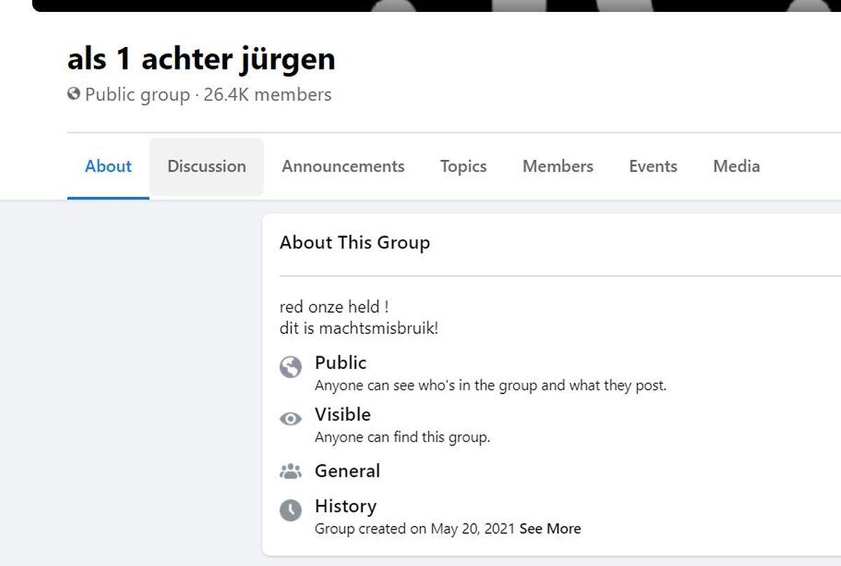 """Beunruhigend: 26.000 Menschen sind Mitglied einer Facebook-Gruppe, die Conings als """"unseren Helden"""" bezeichnet und von Machtmissbrauch spricht."""