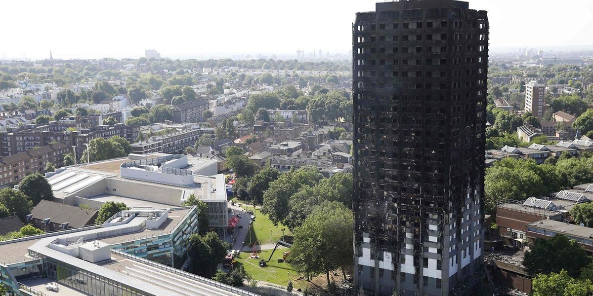 79 Menschen sind bei dem Brand in diesem Londoner Hochhaus ums Leben gekommen.