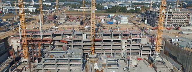 Le chantier du futur quartier est gigantesque