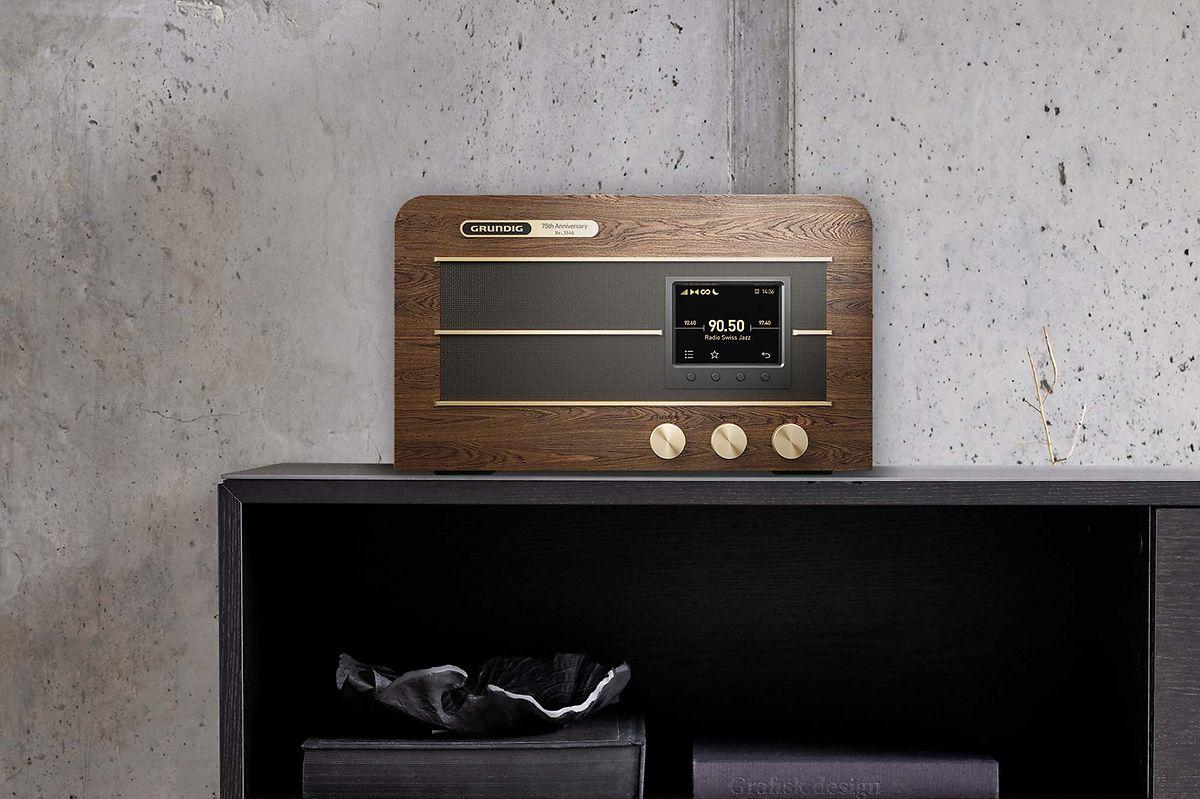 Retro: Mit dem Digital- und Internetradio Heinzelmann erinnert Grundig zumindest optisch an das gleichnamige Bausatzradio aus Nachkriegszeiten.