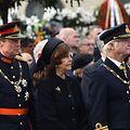 Großherzog Henri, Königin Silvia und König Carl Gustaf von Schweden (v.l.n.r.) erwiesen dem verstorbenen Ex-König Michael I. von Rumänien die letzte Ehre.