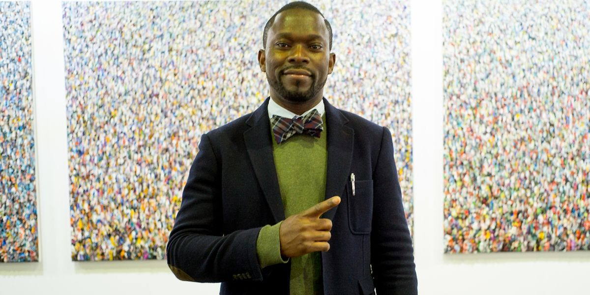 """Schon jetzt eines """"der"""" Gesichter der diesjährigen Luxembourg Art Week: der Gewinner des """"Prix Pierre Werner"""", Kingsley Ogwara."""