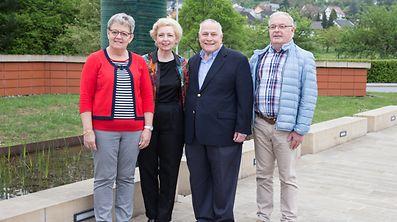 In dieser Woche trafen die Texaner Flora Brewer-Hintgen und James Brewer ihre luxemburgischen Familienmitglieder Josiane und Fred. Schmit-Sauber.