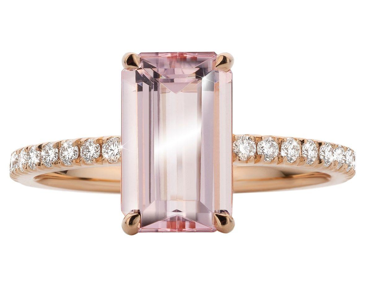 Achtung, Steinschlag: Ring aus Roségold von Slaets mit Morganit und Diamanten, um 2.200 Euro.