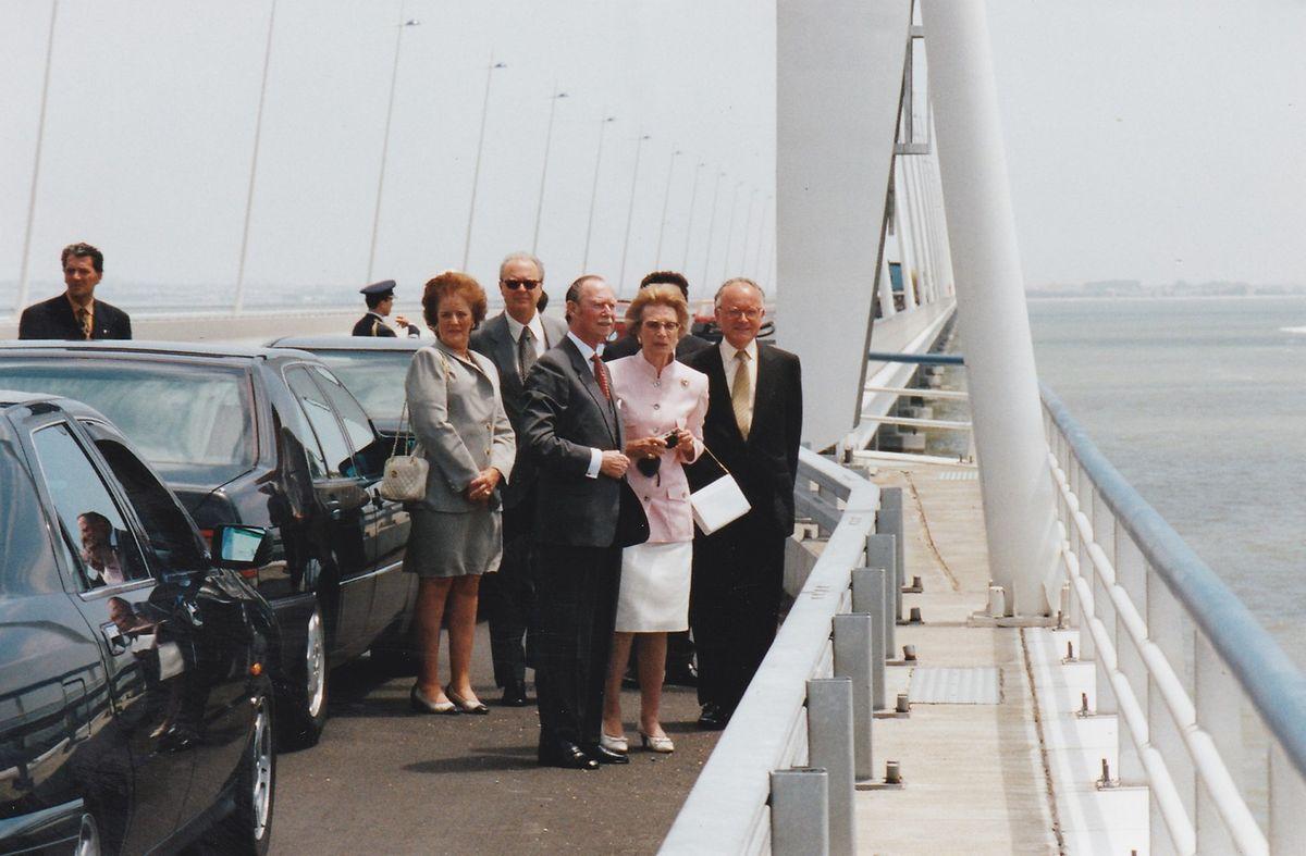 Grão-Duque Jean na ponte Vasco da Gama, durante a visita à Expo 98, em Lisboa