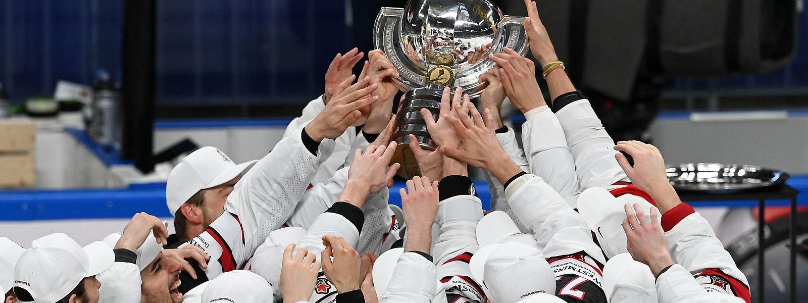 Die Kanadier feiern ihren 27. Weltmeistertitel im Eishockey.