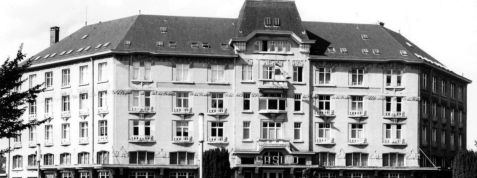 """Das heute nicht mehr existierende """"Palace-Hotel"""" von Bad Mondorf beherbergte im Sommer 1945 eine größere Gruppe Nazi-Kriegsverbrecher.  (Aufnahme aus dem Jahr 1971)"""