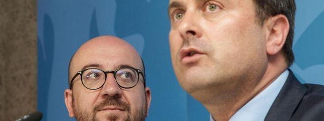 Belgiens Premier Charles Michel (links) und Luxemburgs Premier Xavier Bettel betonten am Montag vor allem die Gemeinsamkeiten ihrer Beziehungen.
