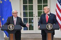 EU-Kommissionspräsident Jean-Claude Juncker und US-Präsident Donald Trump erzielten einen Durchbruch bei ihren Gesprächen im Weißen Haus.