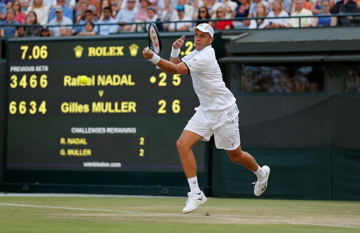Präzise: Mit der Vorhand setzte Gilles Muller den Weltranglistenzweiten Rafael Nadal immer wieder unter Druck.