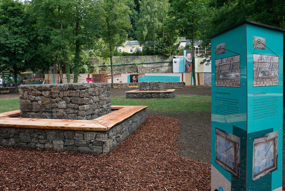 In den Arbeitsgruppen, an denen Bürger aller Altersgruppen sich beteiligten, wurde u.a. festgehalten, dass die Geschichte des Parks auch nach der Umgestaltung eine Rolle spielen soll. Aus diesem Grund werden die Besucher beispielsweise nun via Informationstafeln über die Vergangenheit des Renaissance-Schlosses und den dazugehörigen Park informiert.