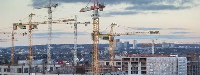 Am Ban de Gasperich entsteht ein neues Viertel mit Geschäften, Wohnungen und Büroräumen.