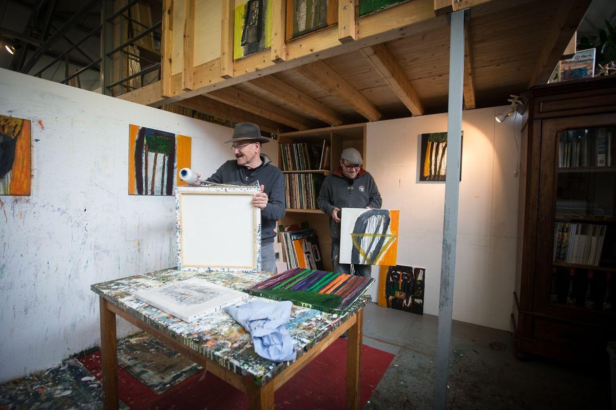 Dans l'atelier de Robert et Kevin Brandy.