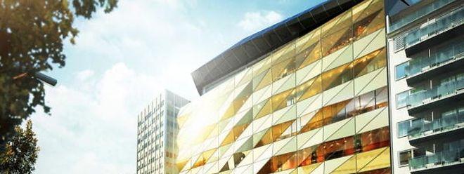 Das Kaufhaus bildet das Zentrum im Komplex Royal Hamilius. Es erstreckt sich über sechs Etagen.