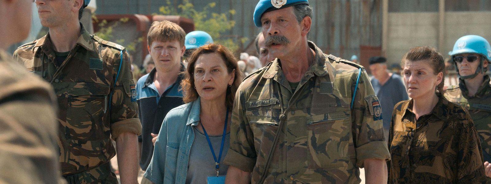 Aida (Jasna Duricic) va devoir affronter la hiérarchie militaire pour tenter de sauver ce qui peut encore l'être dans le Srebenica de 1995..