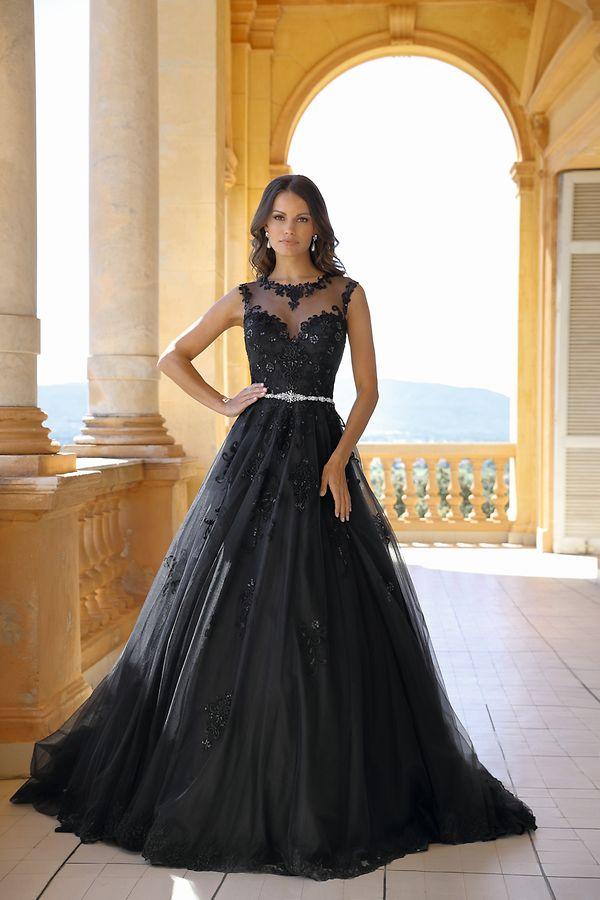 Ungewöhnlich, aber laut Branchenexperten gefragt: Ein schwarzes Brautkleid. Auch Hersteller Emma Charlotte setzt darauf.