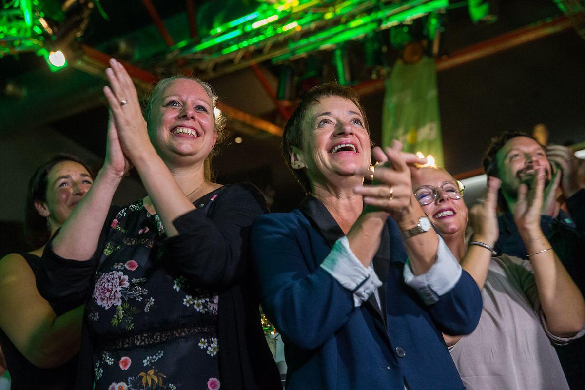 Ici à droite (aux côtés de Carole Dieschbourg), Josée Lorsché est élue à la Chambre depuis 2011.