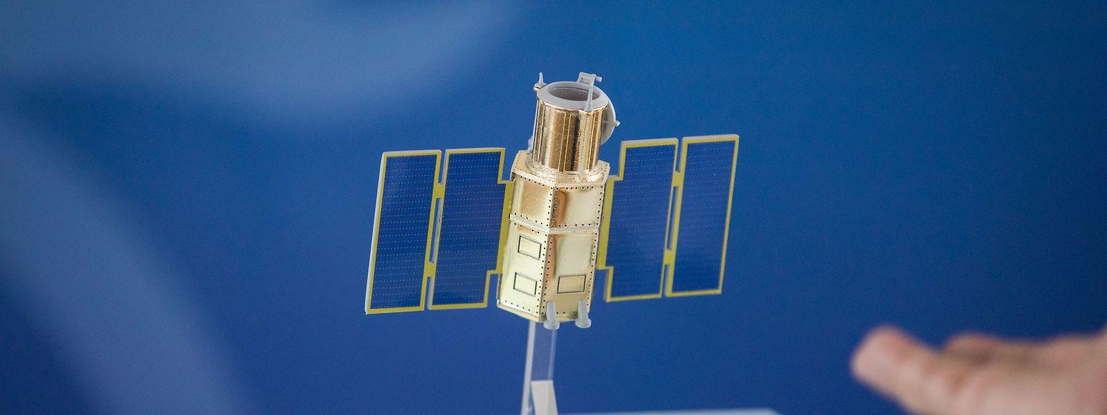 Die Kosten für den Observationssatelliten LUXEOSys (hier ein Modell) könnten sich auf bis zu 309 Millionen Euro belaufen.